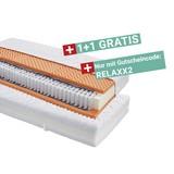 Taschenfederkernmatratze Relax H2 90x200 - Weiß, KONVENTIONELL, Textil (90/200cm) - Primatex
