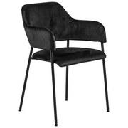 Stuhl Lima Schwarz - Schwarz, Design, Textil/Metall (54/82/55cm) - Livetastic