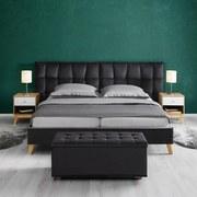 Posteľ Finja - tmavosivá, Moderný, kompozitné drevo/textil (254/112/217cm) - Modern Living