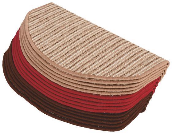 Lépcsőszőnyeg 3 Féle Színben - Bézs/Piros, konvencionális, Textil (28/65cm)