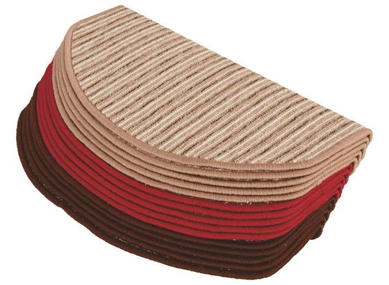 Stufenmatte Multicolor 3 Farben 28x65 cm - Beige/Rot, KONVENTIONELL, Textil (28/65cm) - Homezone