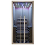 Infrarotkabine 1 Person 100x195x130 cm Carbon - Braun, Basics, Holz (100/195/130cm) - Sanotechnik