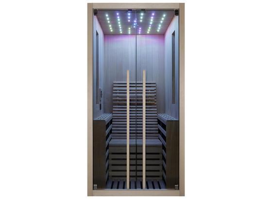 Infrarotkabine 2 Personen 100x195x130 cm Carbon - Braun, Basics, Holz (100/195/130cm)