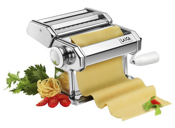 Nudelmaschine Laica Pasta Set - Silberfarben/Weiß, MODERN, Kunststoff/Metall