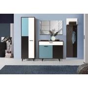 Zrkadlo Raven - bílá/barvy dubu, Lifestyle, kov/dřevěný materiál (105/66/13,5cm) - PREMIUM LIVING