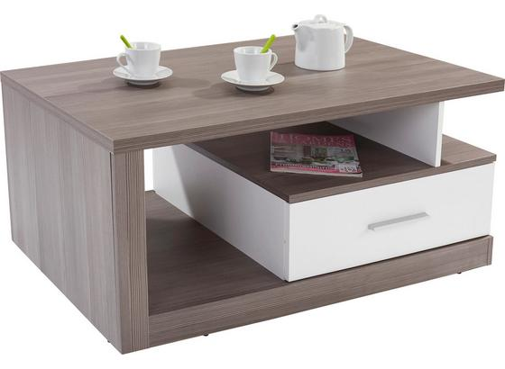 Konferenčný Stolík Iguan - biela/tmavosivá, Moderný, kompozitné drevo/plast (110/45/67cm)
