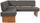 Eckbank Silba 150 X 190 cm - Eichefarben/Grau, KONVENTIONELL, Holz/Wellpappe (150/190cm)