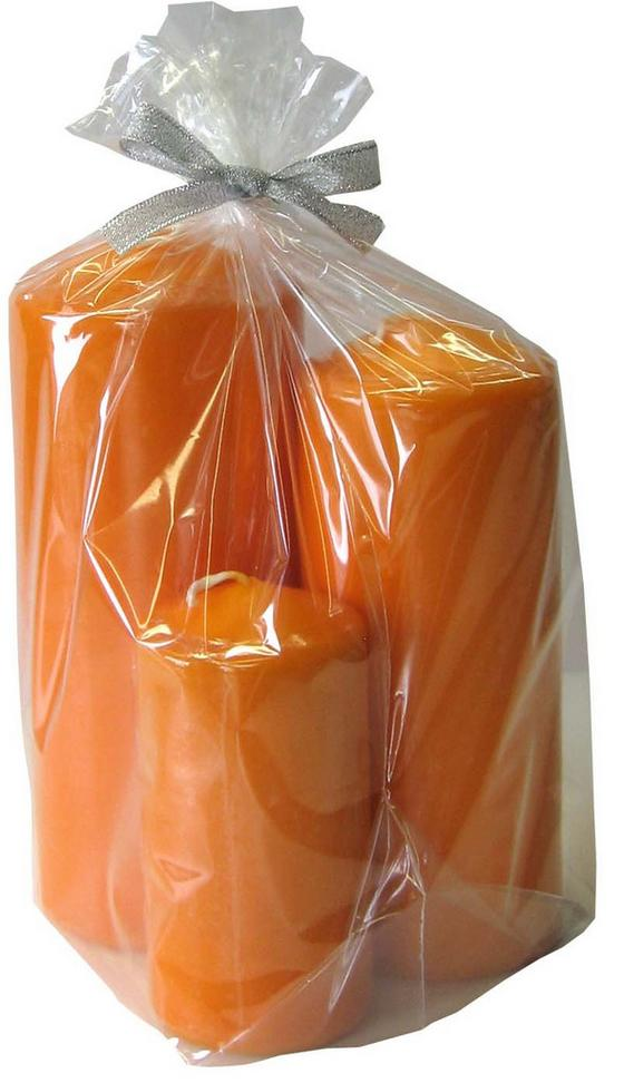 Tömbgyertya Narancs - narancs (7/17cm)