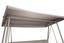 Hollywoodschaukel mit Sonnendach Modena, Klappbar - Hellgrau, MODERN, Kunststoff/Metall (249/185/139cm) - Ombra