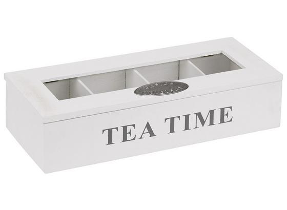 Teebox 132631 - Weiß, KONVENTIONELL, Holz (30/7/12cm)