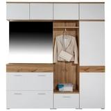 Garderobenkombination Space New 1 - Eichefarben/Weiß, MODERN, Holzwerkstoff (210/199/35cm)