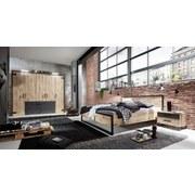 Drehtürenschrank mit Laden 250cm Detroit, Eiche/Graphit - Eichefarben/Graphitfarben, Basics, Holzwerkstoff (250/216/58cm) - MID.YOU