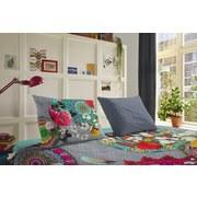 Bettwäsche Siara 140/200cm Grau/Multicolor - Multicolor/Grau, Basics, Textil