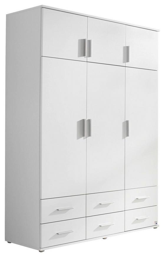 Drehtürenschrank Kemi 136 cm Weiß - Weiß, MODERN, Holzwerkstoff (136/194/53cm)