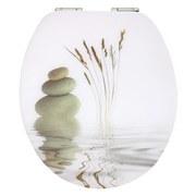 WC-Sitz High Gloss Balance - Creme/Grau, MODERN, Holzwerkstoff (37/43,5cm)