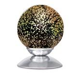 Tischleuchte Dorian - Chromfarben, MODERN, Glas/Metall (15/20cm) - LUCA BESSONI