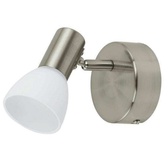 Spotleuchte Glossy 1 - Weiß/Nickelfarben, MODERN, Glas/Metall (9,5cm)