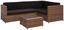Loungegarnitur Cuba - Klar/Schwarz, MODERN, Glas/Kunststoff (206/143cm) - Ombra
