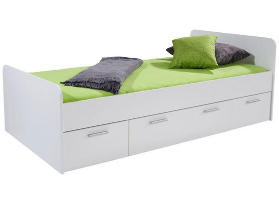Bett Star 90x200 Weiß - Weiß, KONVENTIONELL, Holzwerkstoff (90/200cm)