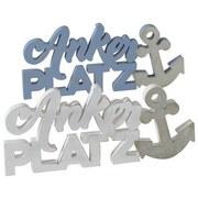 Dekoschriftzug Ankerplatz - Basics, Holzwerkstoff (38/17/2cm)
