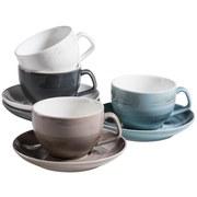 Kaffeetasse 8-Tlg. Kaffeetassen Set Derby - Blau/Beige, Basics, Keramik (40/30/20cm)