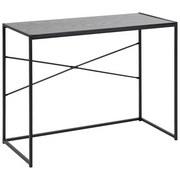 Schreibtisch B 100cm H 75cm Seaford, Esche Schwaraz Dekor - Eschefarben/Schwarz, MODERN, Holzwerkstoff/Metall (100/75/45cm) - Xora