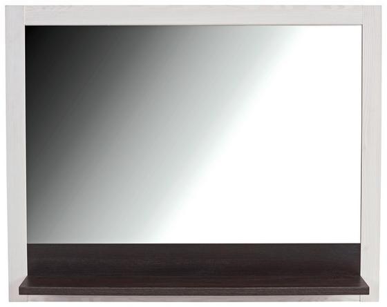 Tükör Provence - fehér/wenge színű, modern, üveg/faanyagok (115/93/15cm) - JAMES WOOD