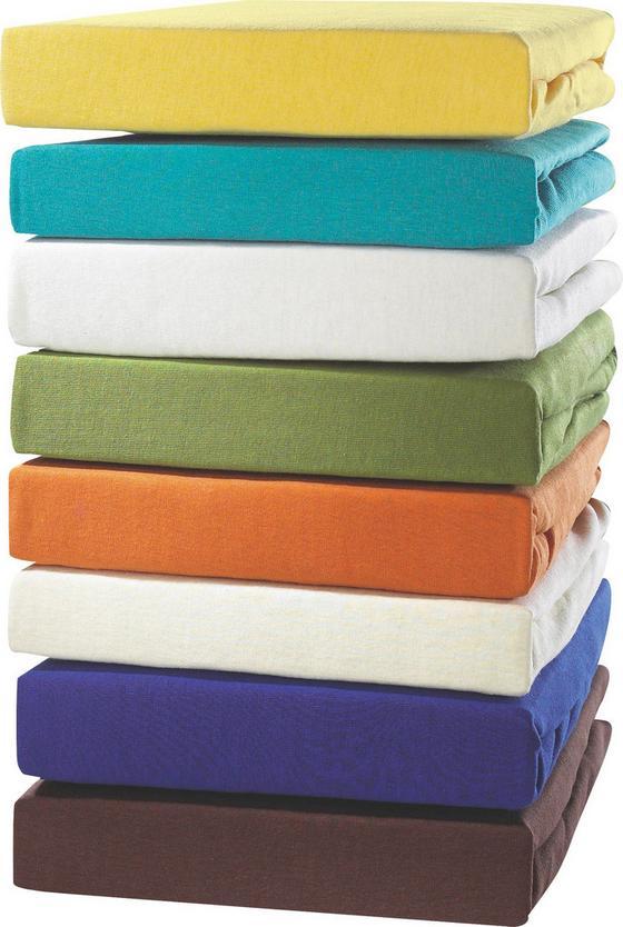Jersey-spannleintuch Tamara 100x200 cm - Türkis/Blau, KONVENTIONELL, Textil (90-100kg) - Ombra