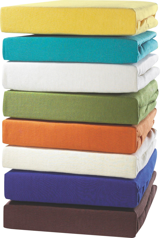 Jersey-spannleintuch Tamara 150x200 cm - Türkis/Blau, KONVENTIONELL, Textil (150/200cm) - OMBRA