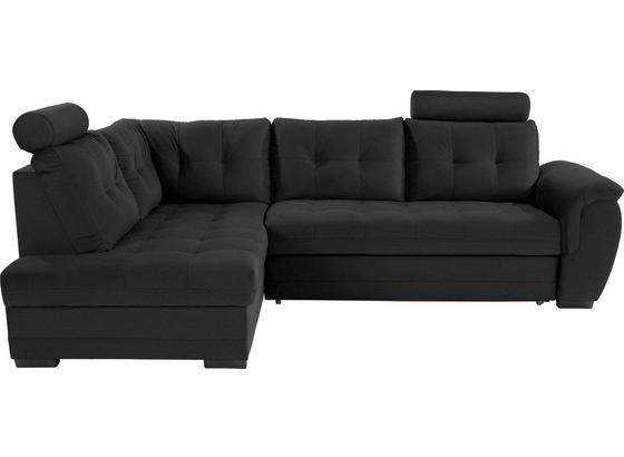 Sedací Souprava Falco - černá/tmavě šedá, Konvenční, kov/dřevo (183/251cm) - Ombra