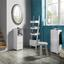 Regál Basic - bílá, Moderní, dřevo (36/146,5/36,5cm) - Modern Living