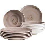 Tafelservice 12-Tlg Tafelservice Derby - Beige, Basics, Keramik (32/32/30cm)