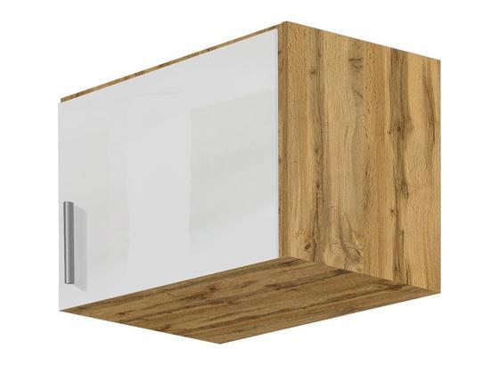 Nadstavec Na Skriňu K 1-dverovej Skrini, Dub Wotan - farby dubu/biela, Moderný, kompozitné drevo (47/39/54cm)