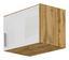 Nástavec Na Skříň K 1-dveřové Skříni, Dub Wotan - bílá/barvy dubu, Moderní, kompozitní dřevo (47/39/54cm)