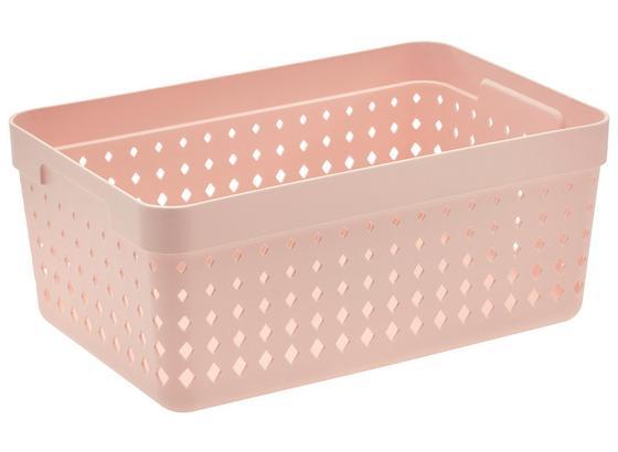 Košík Na Drobnosti Seoul - Xl - pink, Konvenční, umělá hmota (23,8/15,8/10cm)