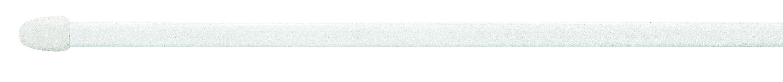 Vitragenstange Weiß - Weiß, KONVENTIONELL, Kunststoff/Metall (100cm)