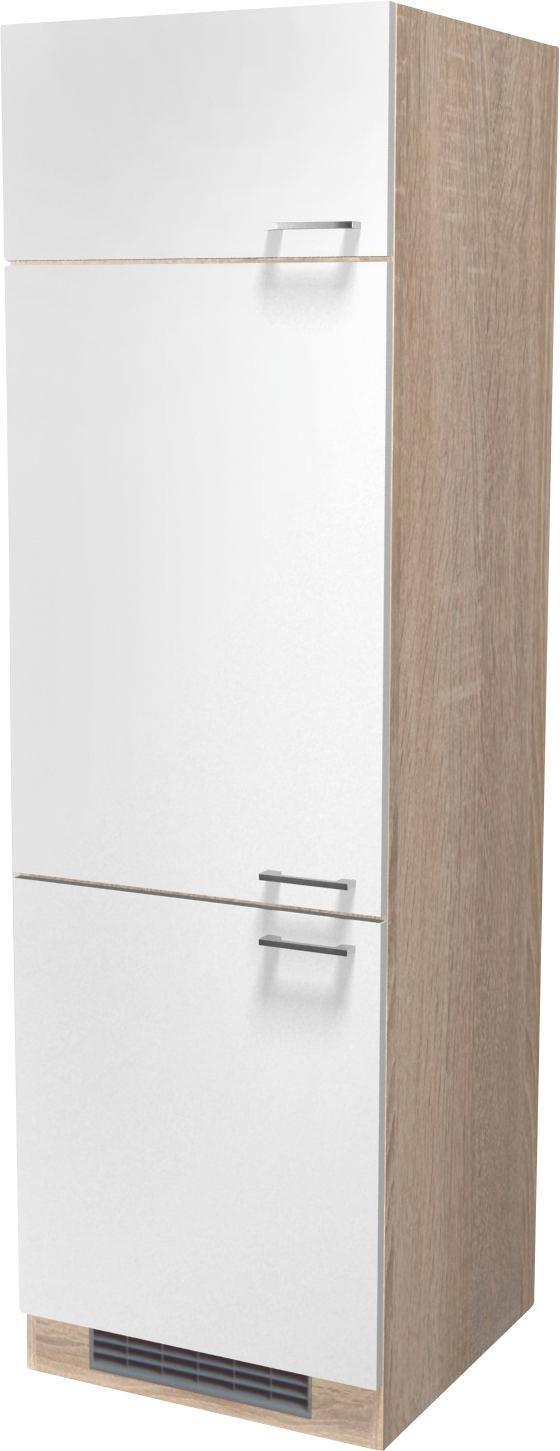 Skříňka Na Spotřebiče Samoa  Git60 - bílá/barvy dubu, Konvenční, dřevěný materiál (60/200/57cm)