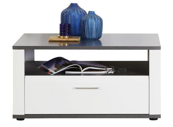Couchtisch Alassio - Graphitfarben/Weiß, MODERN, Holzwerkstoff (90/50/60cm) - Luca Bessoni