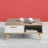 Konferenčný Stolík Claire - prírodné farby/biela, Moderný, drevo (79/83/34cm) - MODERN LIVING