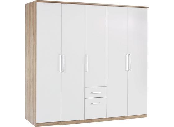 Šatná Skriňa Wien - farby dubu/biela, Konvenčný, kompozitné drevo (226/212/54cm)