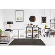 Hochflor Teppich Silber Soft 160x230 cm - Silberfarben, MODERN, Textil (160/230cm)