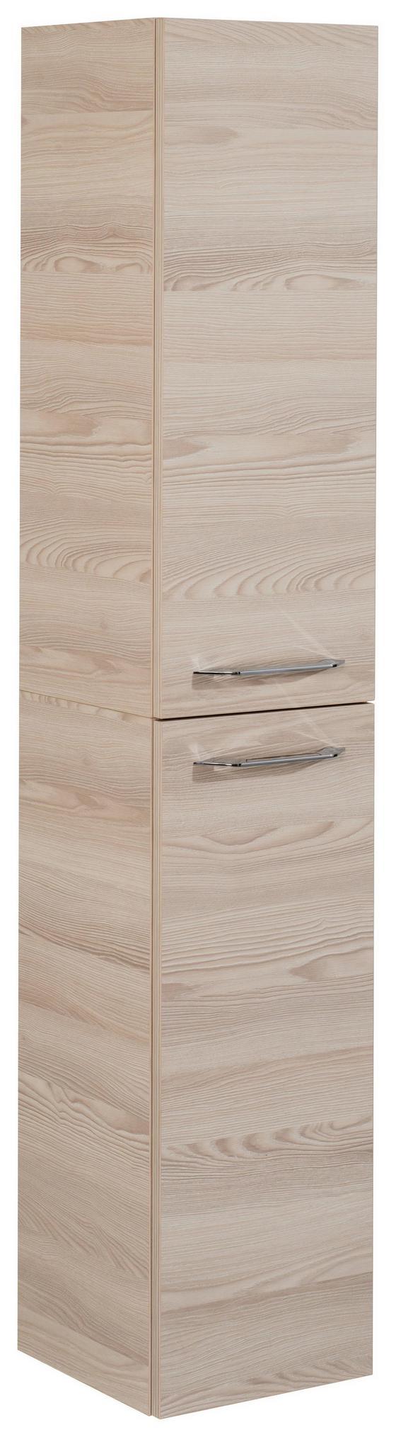 Hochschrank B. Clever 30 cm Esche - Eschefarben, MODERN, Glas/Holzwerkstoff (30/159/32cm) - Fackelmann