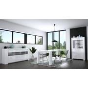 Highboard mit Glaselement B 92cm Orlando, Weiß - Weiß, MODERN, Glas/Holzwerkstoff (92/168/36cm)