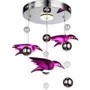 LED-Deckenleuchte Vogel Pink - Pink, MODERN, Kunststoff/Metall (42/60cm)
