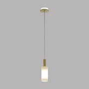 Hängeleuchte Oakham H: 110 cm 1-Flammig, Holz/Milchglas - Braun/Weiß, MODERN, Glas/Holz (12/110cm)