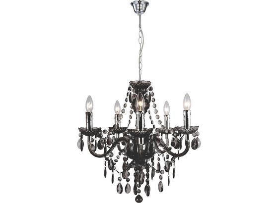 Závesná Lampa Isabella - chrómová/tmavosivá, Romantický / Vidiecky, kov/plast (149cm) - Mömax modern living