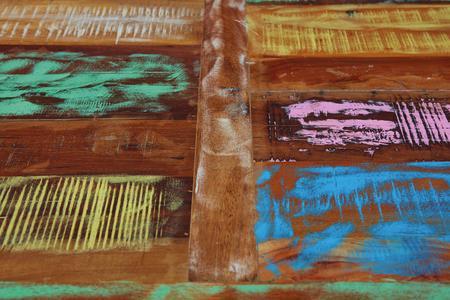 Tischplatte im Used-Look