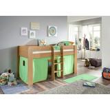 Spielvorhang 3-teilig Grün/ Orange - Orange/Grün, Design, Textil