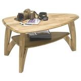 Couchtisch Holz Massiv mit Ablagefach Laval Mini, Eiche - Eichefarben, Natur, Holz (90/60/45cm) - MID.YOU