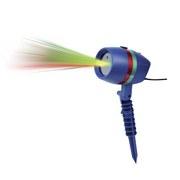 Laserstrahler + Fernbedienung Grün/Rot Star Shower Motion - Blau/Rot, KONVENTIONELL, Kunststoff (12/17/15cm) - Mediashop